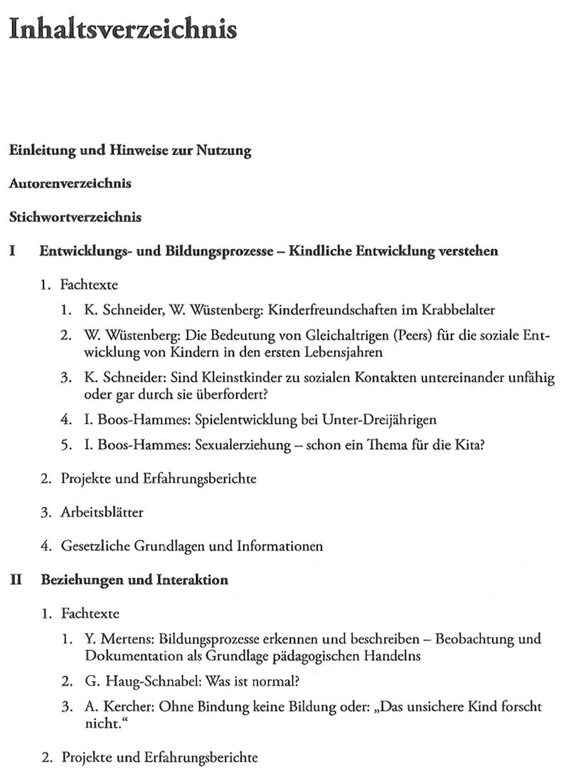 Handbuch U3 Betreuung Von Kleinstkindern Kita Praxis