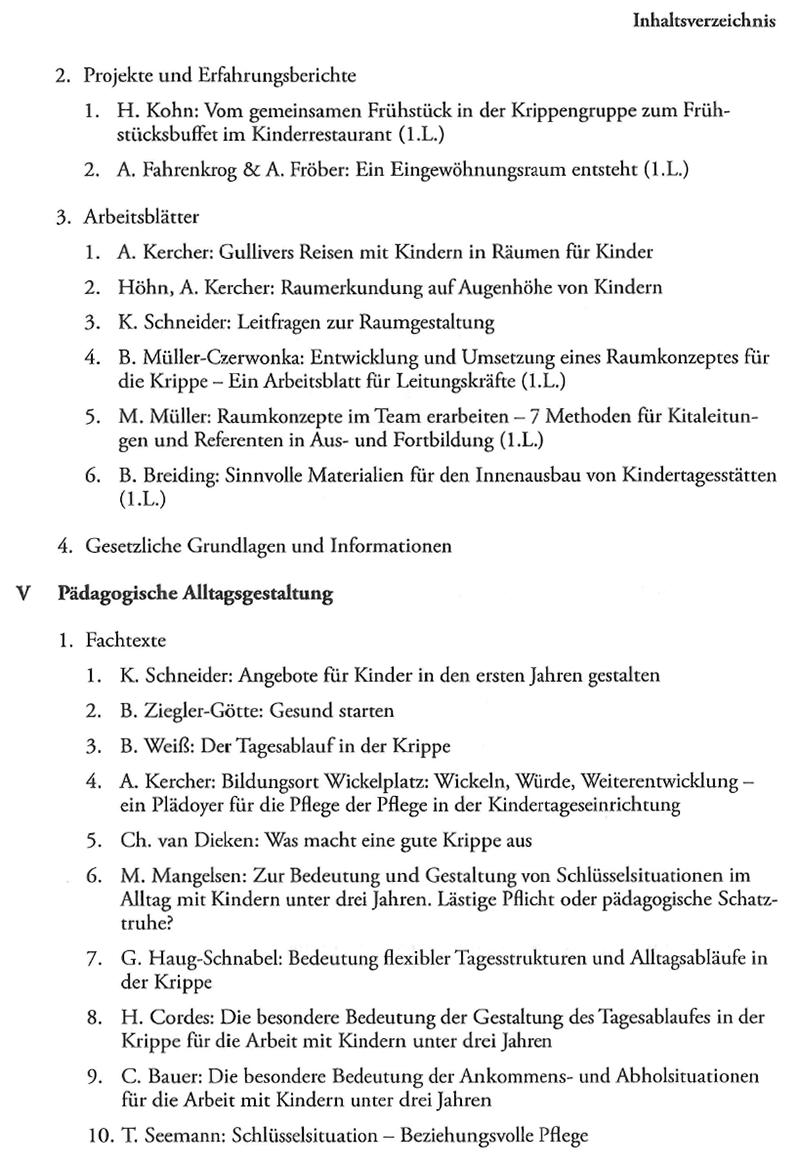 Handbuch U3 – Betreuung von Kleinstkindern – Kita-Praxis